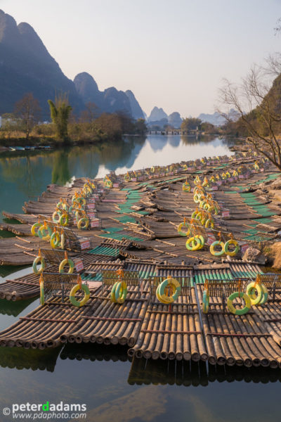Rafts & River Scene, near Yangshuo