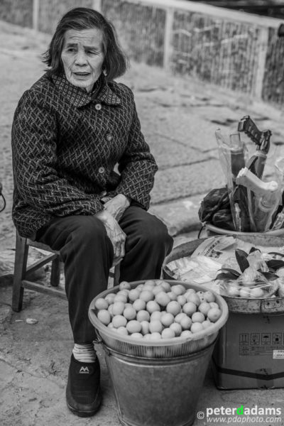 Orange Vendor, near Yangshuo